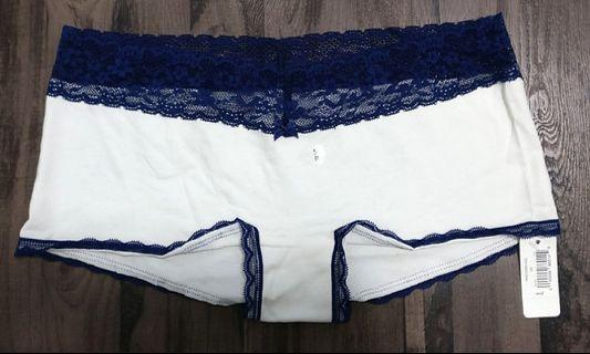 🚚 AERIE COTTON BOYBRIEF WITH LACE TRIMMING