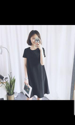 Black Babydoll Dress/S