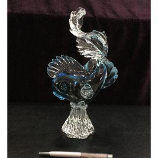Glass crystal sculpture—Dancing Fish