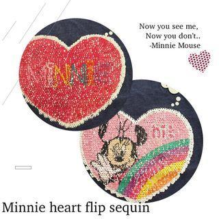 Brand New Disney Minnie Mouse Long Sleeve Heart Flip Sequin 3-4