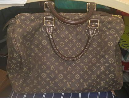 "🚚 💯Authentic Louis Vuitton LV Mini Lin Ebene Speedy Bag 30""  #MRTRaffles"