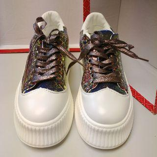 厚底炫彩亮片鞋