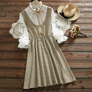Dress Kotak kotak wanita