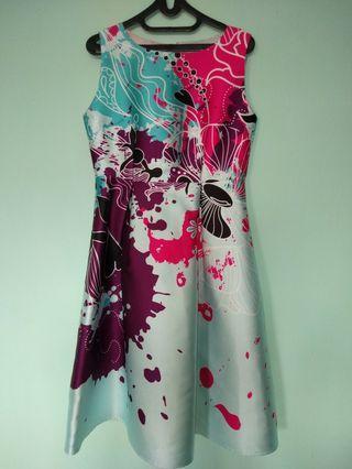 Abstract Painting Blue Ocean Dress #BAPAU