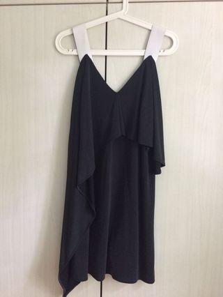 Aijek Jersey Dress With Leather Straps