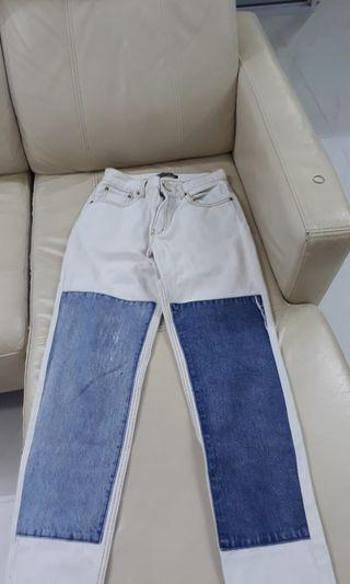 Inverted Patched Kenzo jeans!!