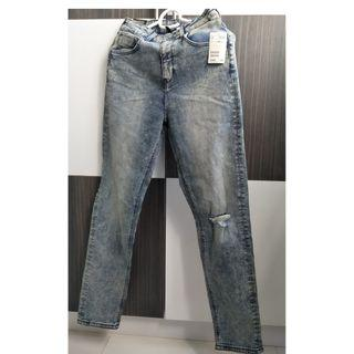 Brand New H&M Divided Ripped Jeans Denim Greyish Blue