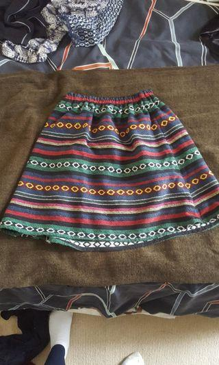 Colourful skirt- size 10