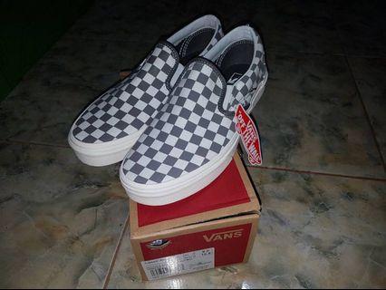 Vans Slip On Checkerboard Grey