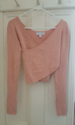 Nude long sleeve top -size 12