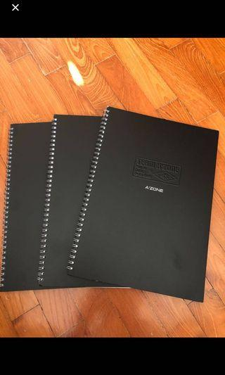 A'zone A4 hardcover notebook