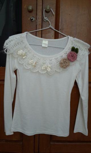 Kaos Putih Panjang #BAPAU