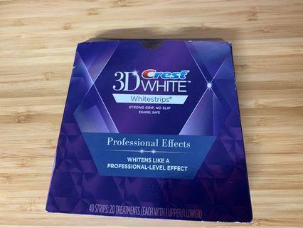 Crest 3D White 美白牙貼,total 有20個treatments (獨立包裝) , 用左3個treatments ,一盒、仲有17個treatments , 每個treatment 有1塊upper 同1塊lower ,美白牙齒必要既嘢!