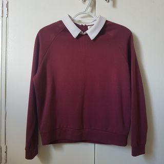 Maroon Long sleeves