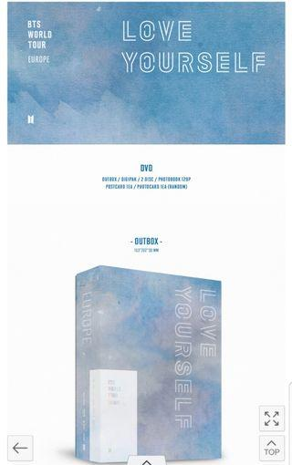 [PO/Share SECURED] Unsealed BTS Love Yourself in Europe DVD