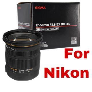 Brand new Sigma 17-50mm f/2.8 EX DC OS HSM Zoom Lens for Nikon