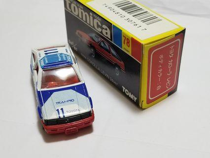 Tomica Corolla Levin No 78 made in Japan