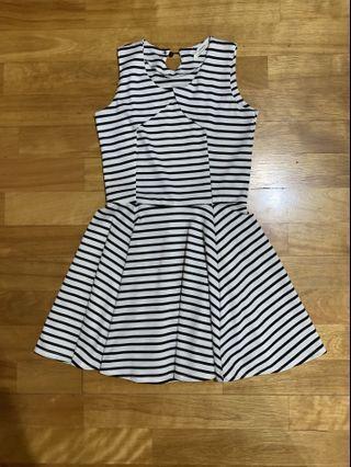 🚚 (全新)韓版夏天無袖條紋洋裝