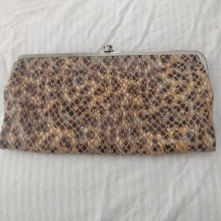 Vegan snakeskin wallet purse