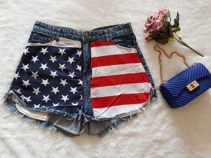 American flag hotpants