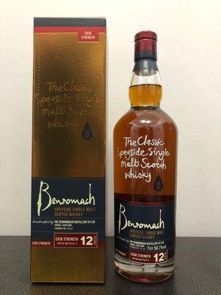 Benromach 12y cask strength single malt whiskey