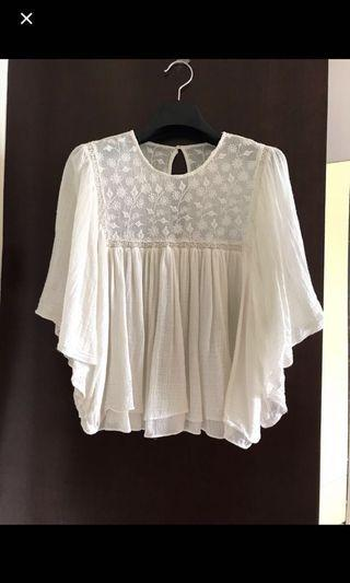 Brand new Zara lace loose fit top