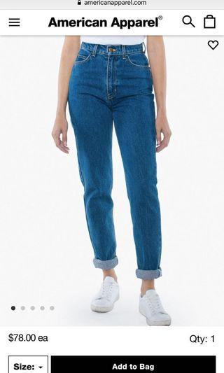 American Apparel Highwaisted Jeans