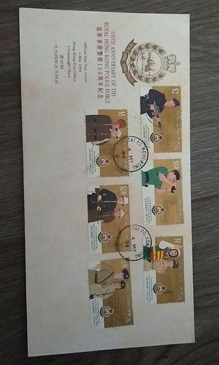 皇家香港警察150週年首日封