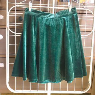 H&M Velvet Skater Skirt
