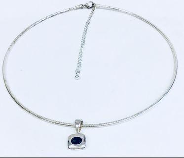Emma Page Jewellery Silver Snake Choker Chain with Pendant