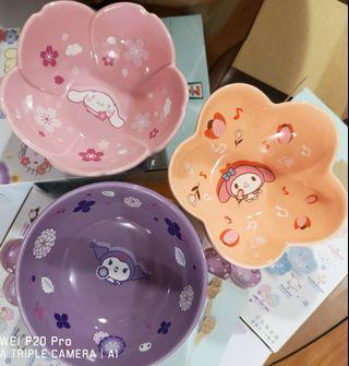 711 花花陶瓷碗3隻100元