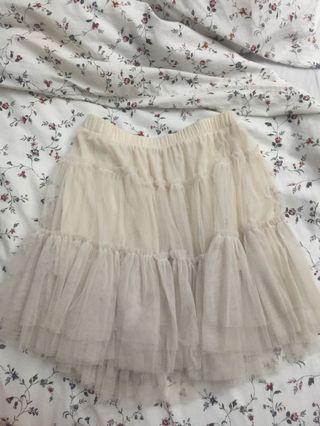 Vintage beige tutu skirt