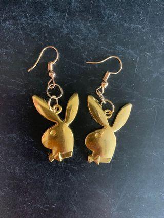 Playboy gold earrings