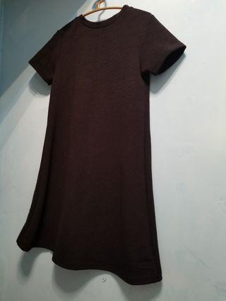 黑色長身裙