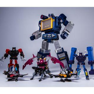 PO Transformers THF Soundwave with 6 tapes Toy House Factory