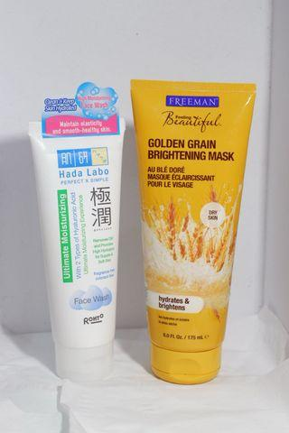 Freeman Golden Grain Brightening Mask & Hada Labo Face Wash (Take All)
