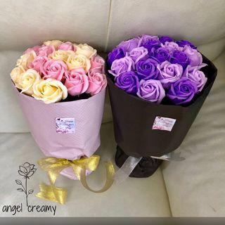 香皂玫瑰花花束