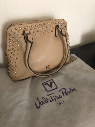 Valentino Rudy Beige Studded Handbag