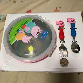 Peppa Pig stainless steel tableware set