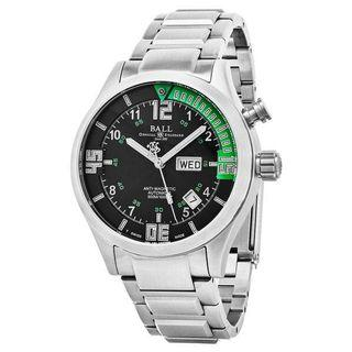 Ball Men's 'Engineer Master Diver' Black/Green Dial Stainless Steel Swiss Automatic Watch