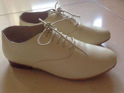 Bonjour牛津鞋(2.5cm)柔軟全真皮平底鞋