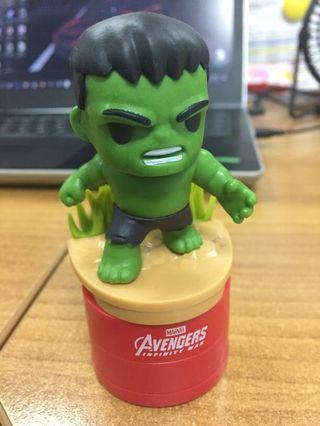 Hulk marvel stamping tesco limited edition.