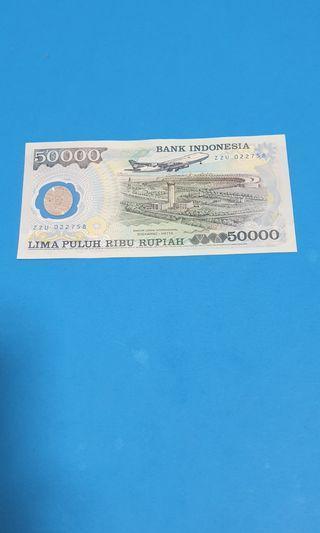 1993 INDONESIA 50000 RUPIAH, POLYMER, UNC