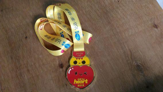Run for heart 2019完賽獎牌