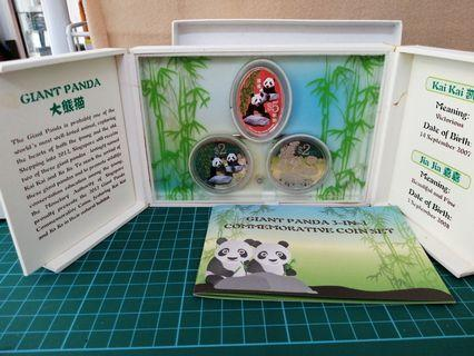 Singapore 2012 Silver Proof Panda $2 & $5 Coin