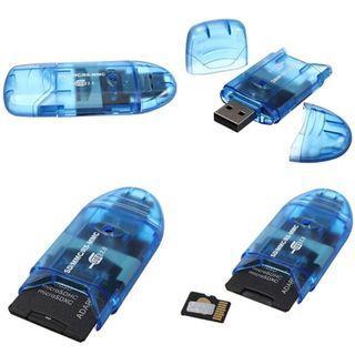 Readystock USB 2.0 Memory Card Reader Writer Adaptor for SD MMC