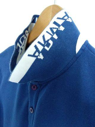 AX Armani Exchange Contrast Collar Premium Pima Polo Shirt Medium