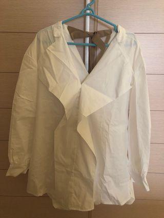 White blouse plain