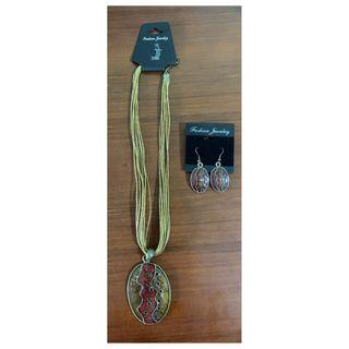 Ethnic Jewellery set - necklace and earrings