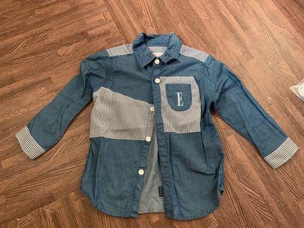 99% new Elle 藍色薄恤衫 size 95
